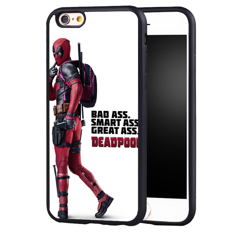 Deadpool bad ASS QUOTE   Protective case cover For Samsung s4 s5 s6 S7 S6edge S8 S8plus note 2 3 4 5
