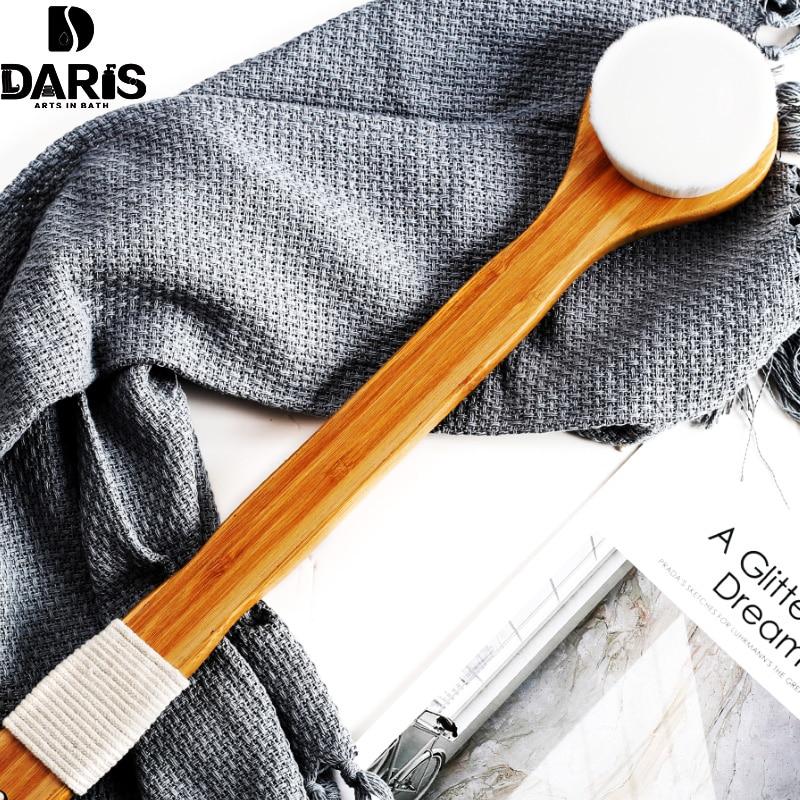 SDARISB Skin Massage Shower Rubbing Brush Bath Long Handle Brush Exfoliation Body Soft F ...