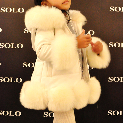 Children s clothes girls more winter coat paragraph coat heavy hair grows in warm cotton padded
