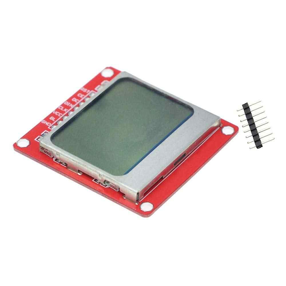 الذكية الالكترونيات 84*48 84x84 وحدة عرض إل سي دي مراقب الأبيض خلفي محول PCB نوكيا 5110 شاشة لاردوينو