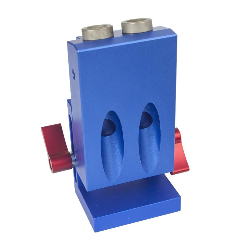 Mini Pocket Hole Drill Jig W/ Step Drilling Bit Kit Woodworking Accessories mini pocket hole jig kit for woodworking with 3 8 inch 9 5mm step drill bit 11 inch face clamp locking c clamp pliers ht1145