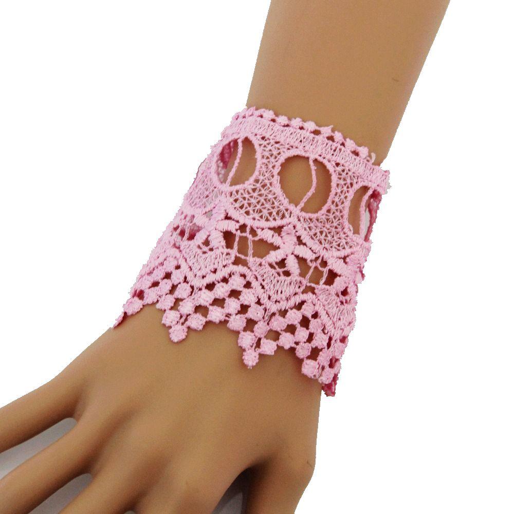 ᗑCirgen, moda Rosa flor tatuaje chunky Encaje imitación perla ...