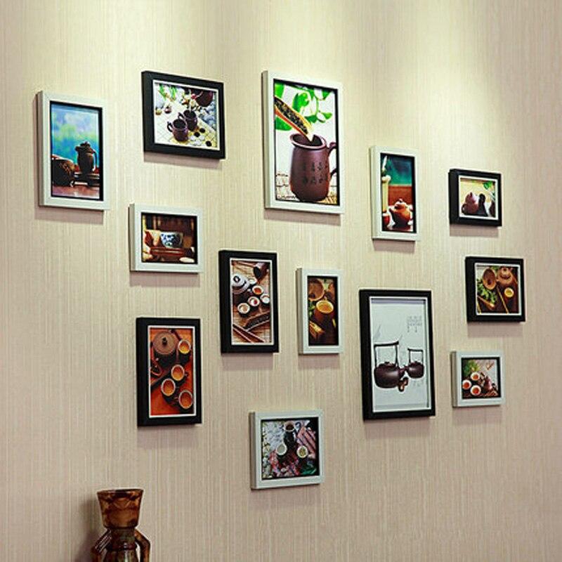 13 sztuk w stylu europejskim ściana z drewna kompozytowego ramka na - Wystrój domu - Zdjęcie 5