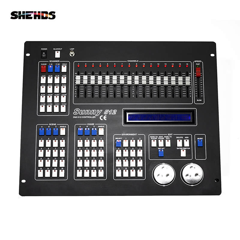 все цены на Sunny512 Channels DMX512 DMX Controller DJ Disco DMX Lighting Consoles Professional Stage Lights Control Equipment