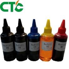 5x 100ml refill ink kit for canon for PG445 XL PG 445 CL446 For Canon Pixma IP2810 MG2410 MG2510 MG2440 MX494 MG2940 MG2540 цена в Москве и Питере