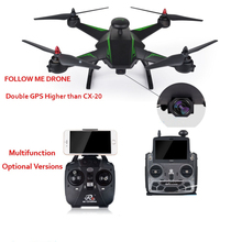 New RC136 2.4G 4CH Double GPS Follow Me RC Quadcopter Brushless Motor 5.8G FPV WIFI FPV RC Drone With 1080P HD Camera VS CX-20