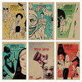American Horror Story B collection  retro Poster Retro Kraft Paper Bar Cafe Home Decor Painting Wall Sticker