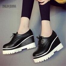 봄 2018 새로운 단일 신발 여성 머핀 신발 여성 신발 높은 두꺼운 밑창 내부