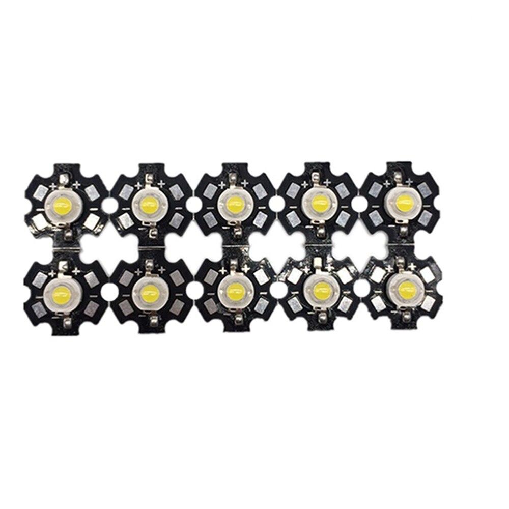 50pcs/lot High Power 1W 3W Cool / Warm White 3500K 6500K 15000K LED Bulb Chip Crystal Diodes Light With 20mm AL Star Base