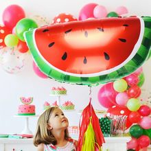 1pcs Large Fruit Strawberry Pineapple Watermelon Foil balloons Birthday Summer Party Helium Globos Decor kids toy Gift Supplies(China)