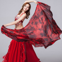 Performance Belly Dance 100 Silk Veils Graduated Colour Dance Accessory Belly Dance Silk Veil