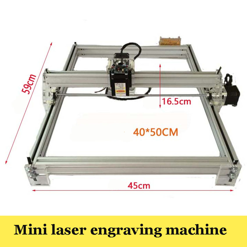 1PC   Large Area Laser Engraving Machine 5500mw DIY Laser Engraver IC Marking Printer Carving Size 40X50cm disassembled ly 500mw blue violet laser engraving machine mini diy laser engraver ic marking printer carving size 20 17cm