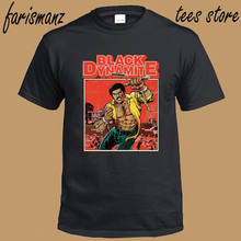 New Black Dynamite Action Comedy Movie Cartoon Men's Black T-Shirt Size S to 3XL(China)