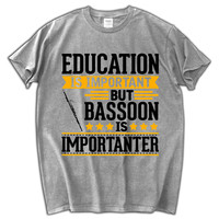 Bassoon Is Importanter Funny T Shirt 2018 New Hip Hop Men Short Sleeve Fashion Cotton 100