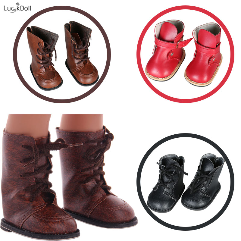 3 Colors Beautiful Leather Boots Fit 18 Inch American&43 CM Baby Doll Clothes Accessories,Girl's Toys,Generation,Birthday Gift
