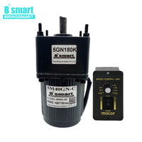 Bringsmart 5M40GN C 10~500rpm AC Electric Motor 220V Single Phase 40W AC Gear Motor Induction Motor Mini Machine