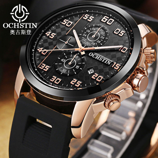 9162be27d7f OCHSTIN Chronograph Date Men Watch Top Brand Luxury Military Sport Male  Clock Casual Fashion Wrist Quartz Mens Watches Gift 080