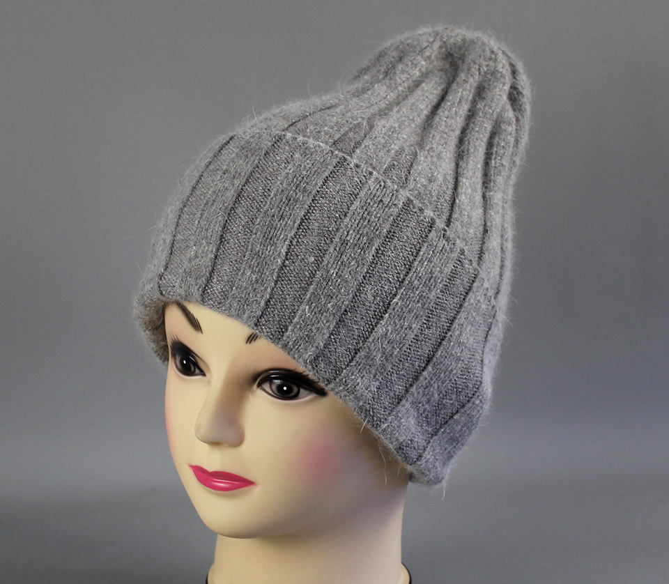 Thick Winter Hats For Women angora Beanies Hat knitted wool warm Beanie With Back Opening 2018 New (3)