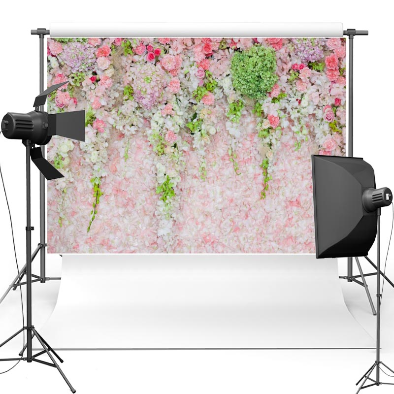 New Fabric Flannel Photography Background Pink Flower Floral Vinyl Backdrop For Wedding Day photographic studio F2255 8x10ft valentine s day photography pink love heart shape adult portrait backdrop d 7324