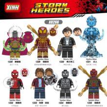Человек-паук вдали от дома фигурка супергероя Mysterio Человек-паук гидро-человек строительные блоки кирпичи игрушки для детей XH0266