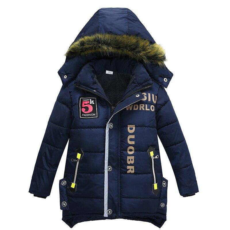 2017 New baby boy coat jacket children hooded jacket baby winter warm clothes fashion coat long Children fashion coat Kids coat 2017 new baby boy