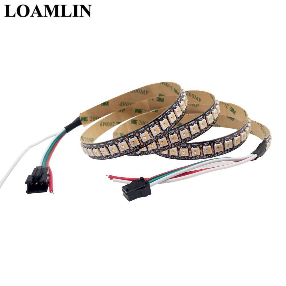 Led şerit SK6812 (benzer WS2812B) RGBW 4 In 1 30/60/144 Led/piksel/m; bireysel adreslenebilir Led şerit IP30/IP65/IP67 DC5V