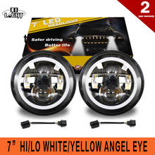 "COLIGHT 2PCS 12V 24V 50W 30W 7"" Round Led Headlight with White Lamp for Russian Cars uaz gaz niva Minibus Trucks Car-styling"