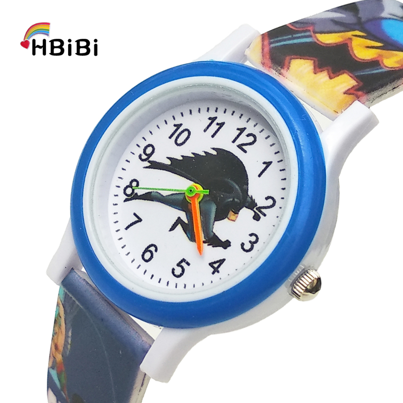 Super Hero Printed Strap Cartoon Batman Children Watch Kids Watches For Boys Girls Gift Casual Fashion Bracelet Clock Relojes BB