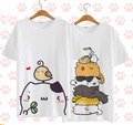 2016 New Cute Neko Atsume Cosplay T-shirt Cosplay Anime The Cat yard T Shirt  Men Women Summer cotton  tops Tees