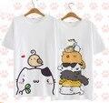 2016 Nova Bonito Neko Atsume T-shirt Cosplay Cosplay Anime O quintal Do Gato T Shirt Das Mulheres Dos Homens de Verão de algodão tops Tees