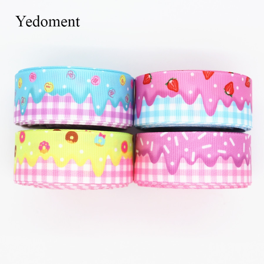 10 Yards Grosgrain Ribbon Cake Printed Ribbon 1