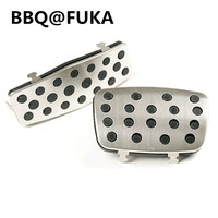 BBQ FUKA New Auto 2pcs A T Foot Break Pedal Rest Panel Cover Pad Fit For