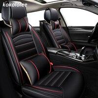 KOKOLOLEE Pu Leather Car Seat Covers Set For Peugeot Mitsubishi Qashqai Lada Renaul Mazda Skoda Suzuki