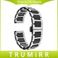 18mm 20mm 22mm de cerámica + butterfly venda de reloj de la correa universal de acero inoxidable hebilla de la correa de pulsera + mejorado removedor del acoplamiento