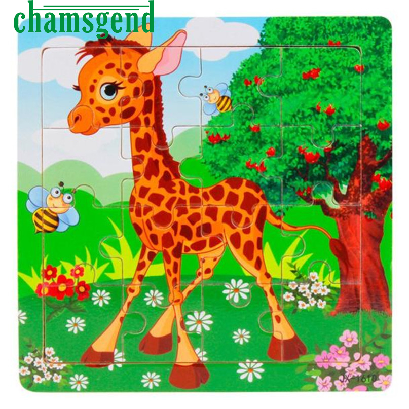CHAMSGEND Modern Animals Puzzle Wooden Panda Jigsaw Toys For Kids Children Education And Learning Puzzles Toys 28 pilsan puzzle 4x4 animals