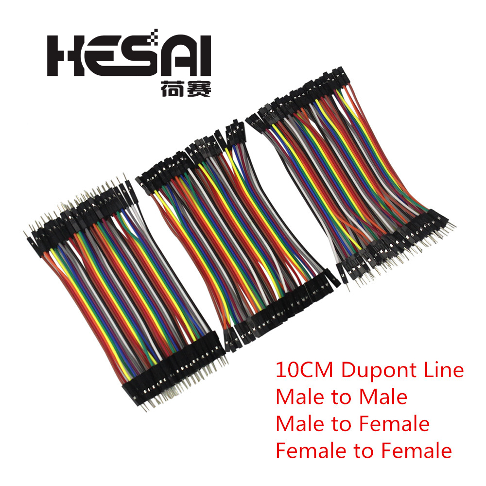 Dupont Line 10cm Male To Male + Female To Male And Female To Female Jumper Wire Dupont Cable For Arduino Diy Kit