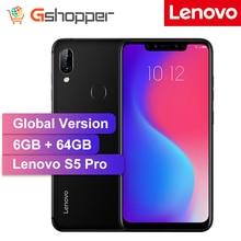 Глобальная версия оригинальный lenovo S5 Pro 6 ГБ, 64 ГБ, задний Камера 20.0MP Зуй 5,0 Восьмиядерный 1,8 ГГц 3500 мА/ч, Батарея Face ID мобильного телефона