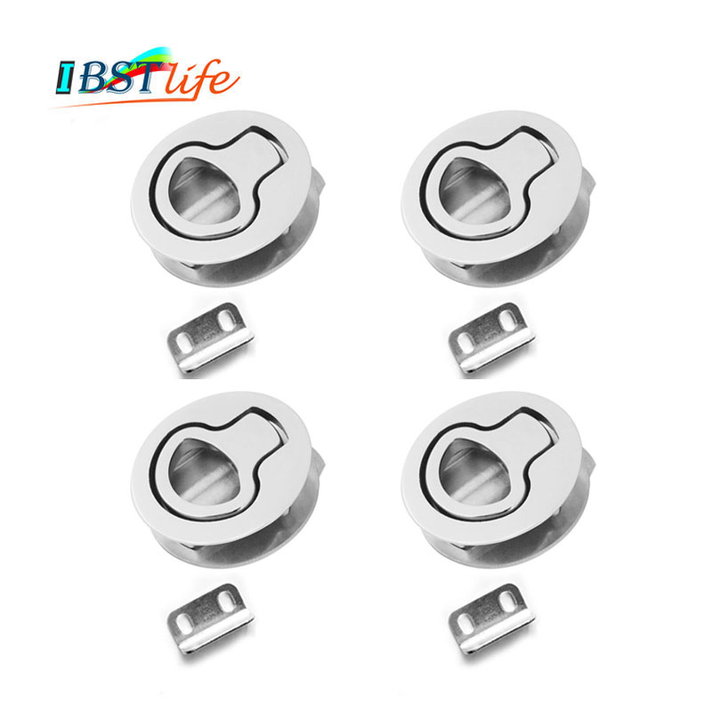 4X Marine grade stainless steel 316 Flush <font><b>Boat</b></font> marine <font><b>Latch</b></font> Flush Pull <font><b>Latches</b></font> Slam lift handle Deck Hatch marine hardware image