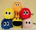 6 шт./лот Фильм Пикселей Pacman Q-Берт Плюшевые Игрушки Куклы Каваи Пикселей Qbert и Pac-man и Дух Плюшевые Мягкие Мягкую Игрушку С теги