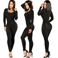 Sexy Jumpsuit Black Bandage Bodycon Long Pants Bodysuit Fashion O-neck Jumpsuits Tight Overalls Clubwear Macacao Feminino 2017