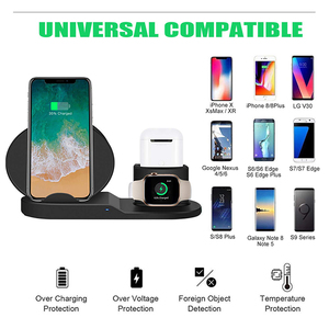 Image 2 - צ י אלחוטי 3 in 1 מחזיק stand תחנת מטען 7.5W עבור Iwatch 5 4 3 2 Iphone 11 פרו מקס XS MAX XR אפל שעון Airpods 1 dock