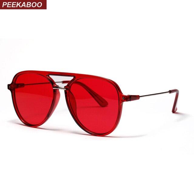 d650c07169e Peekaboo half metal high quality sunglasses men women brand 2018 flat top  black red shades for women female uv400
