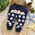 Otoño del envío del nuevo flor del ciruelo baby girls pantalones casual, pantalones de los niños, las polainas de los pantalones #Z710