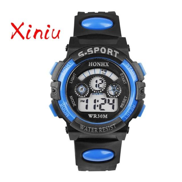 Honhx 2018 Children Watch Kids Boy Digital Quartz Date Fashion Sports Wristwatch
