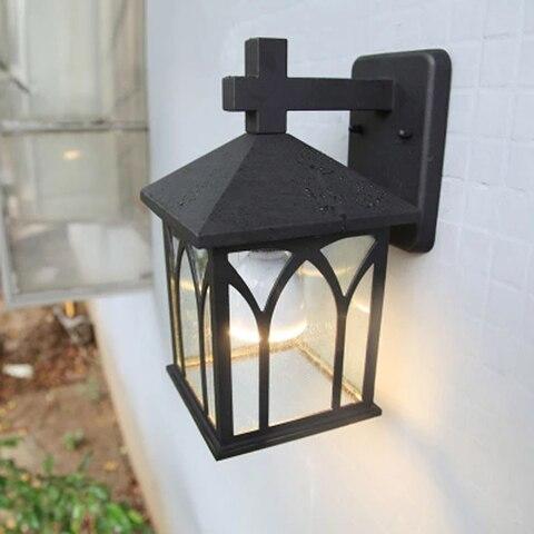 ar livre liga de aluminio e27 retro lampada iluminacao