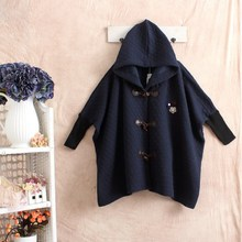 winter grey coat autumn cape poncho women dames jassen mori girl vintage chaquetones de mujer manteaux