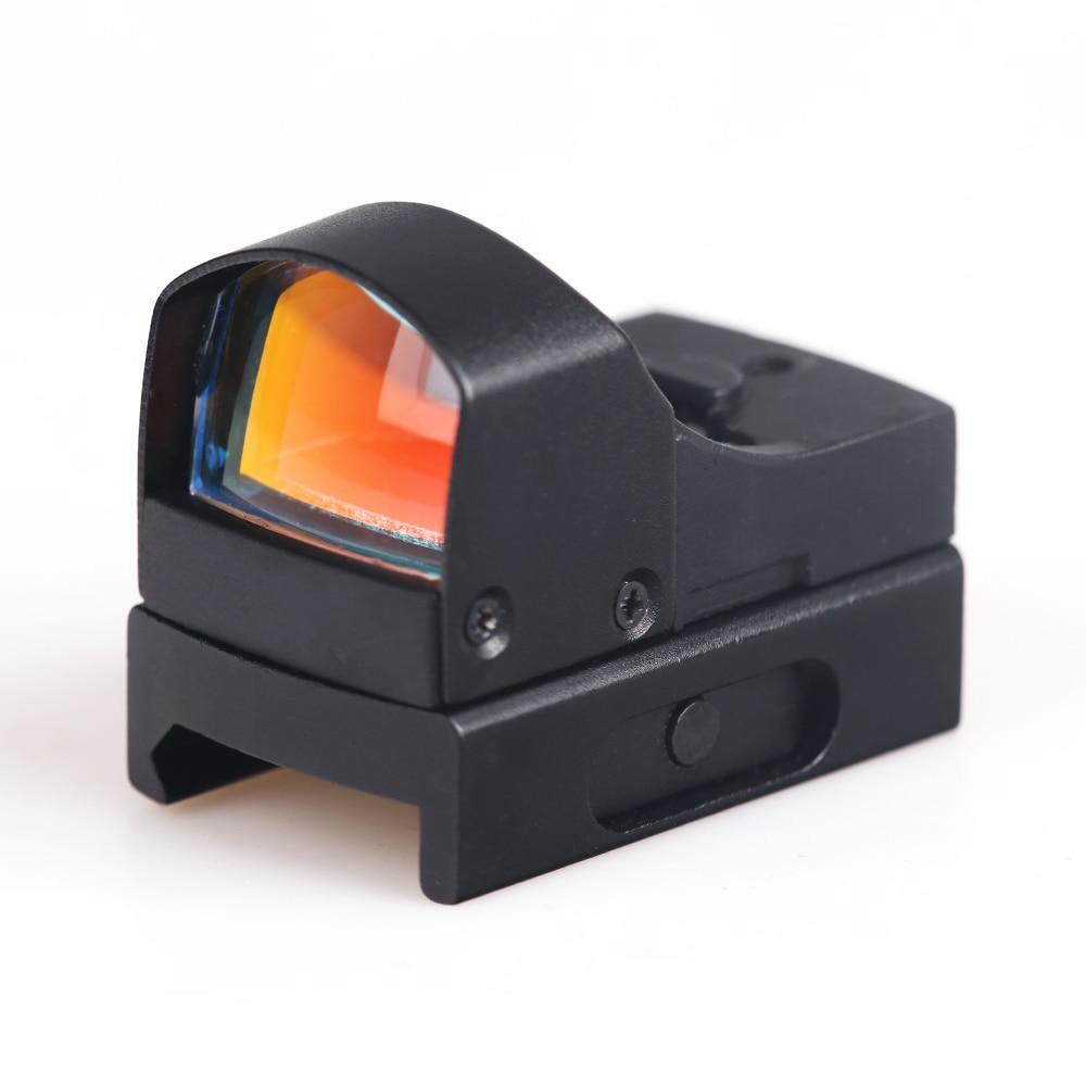 BIJIA Mini Max Reflex Red Dot Sight Scope Dual Brightness Weaver 20mm Rail Free Shipping
