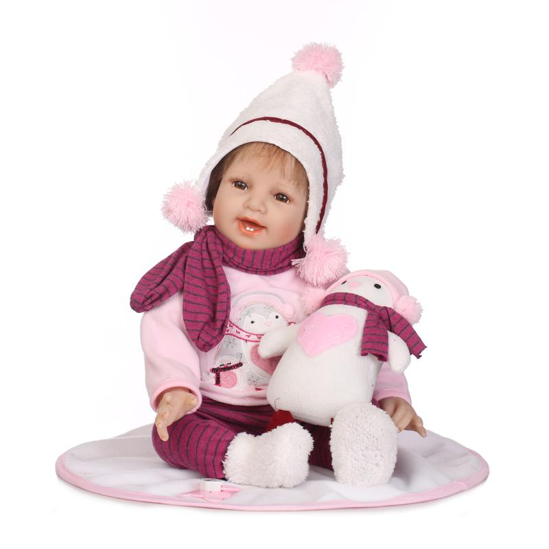 silicone reborn baby soft body mini girls Cheerful girl eyes open in Nice thick winter clothes vinyl babies likeness doll toyssilicone reborn baby soft body mini girls Cheerful girl eyes open in Nice thick winter clothes vinyl babies likeness doll toys