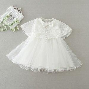 Image 2 - 2 adet/takım kız bebek elbisesi 3 24 ay bebek resmi elbiseler doğum günü ve düğün vaftiz önlükler vaftiz giysi TS46