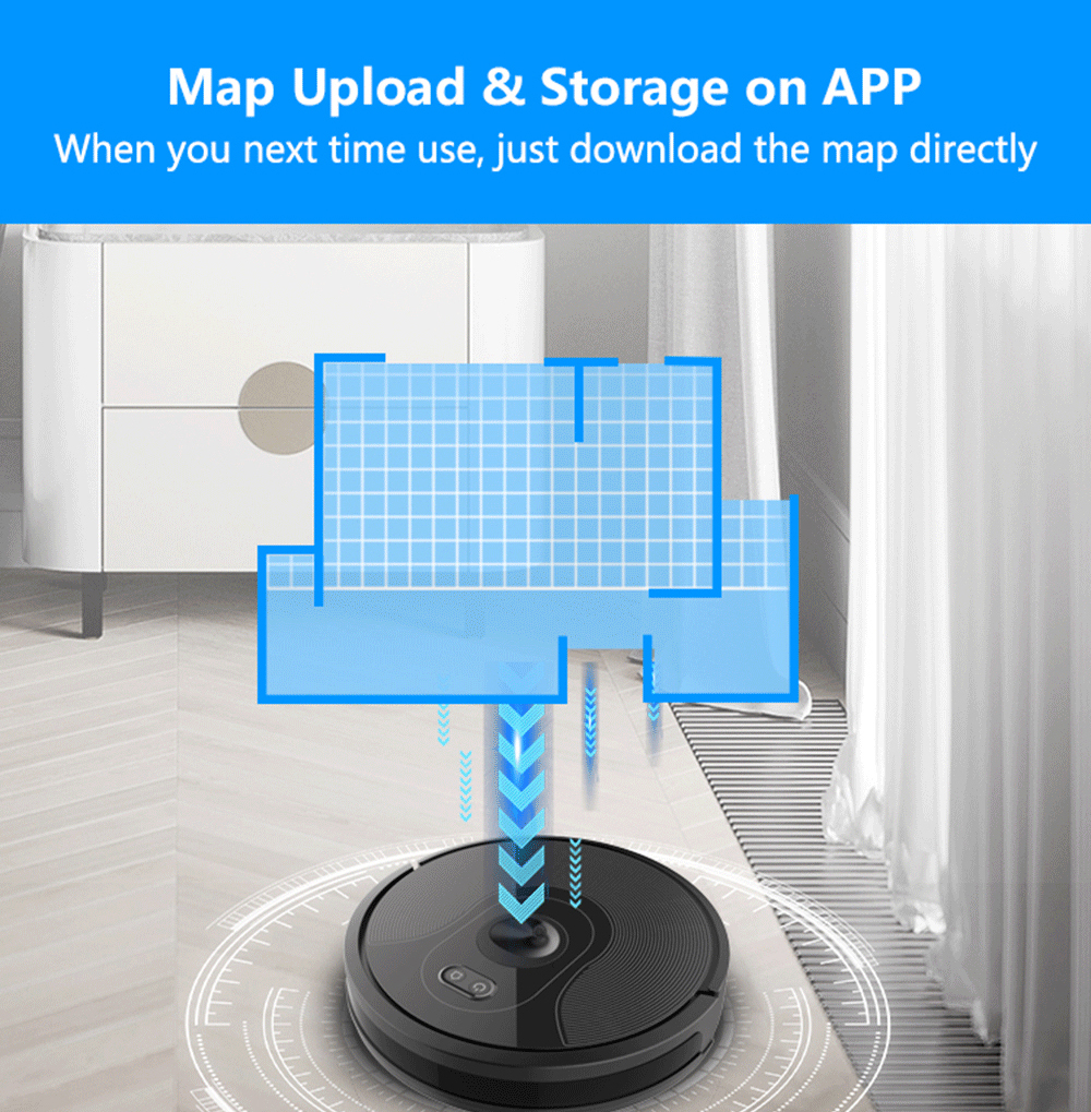 ABIR X6 Robot Vacuum Cleaner with Visual Navigation,APP Virtual Barrier,Breakpoint Continuous Cleaning,Draw Cleaning Area On Map 3